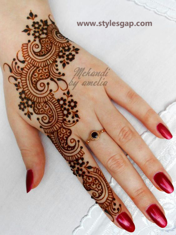 Simple & Easy Eid Mehndi Designs 2016-2017 Latest Collection (4)