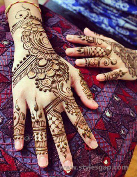 Simple & Easy Eid Mehndi Designs 2016-2017 Latest Collection (6)