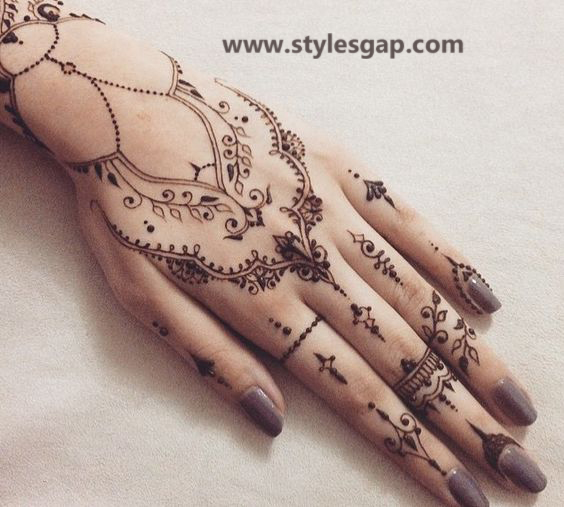 Simple & Easy Eid Mehndi Designs 2016-2017 Latest Collection (8)