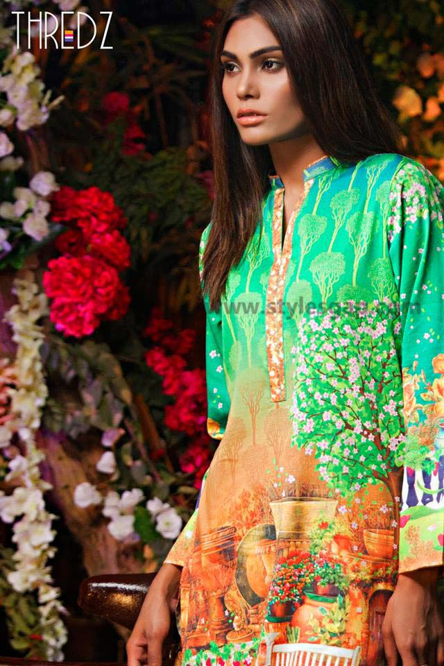 Threadz Printed & Embroidered Tunics Designs Collection 2016-2017 (1)