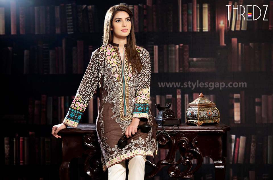 Threadz Printed & Embroidered Tunics Designs Collection 2016-2017 (3)