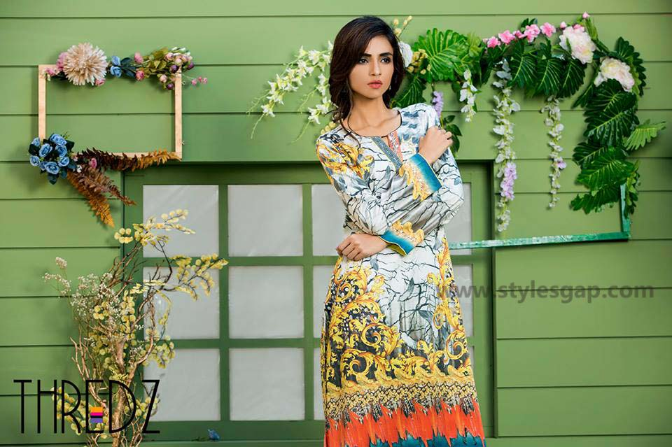 Threadz Printed & Embroidered Tunics Designs Collection 2016-2017 (4)
