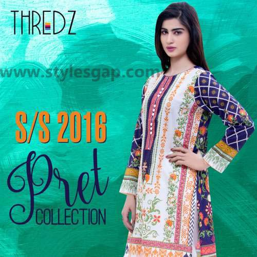Threadz Printed & Embroidered Tunics Designs Collection 2016-2017 (5)