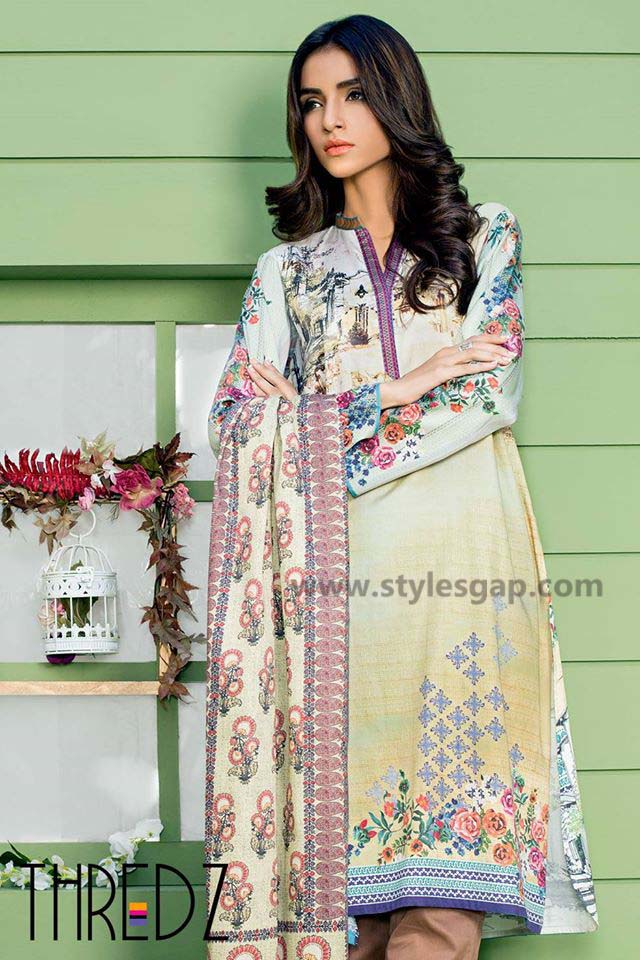 Threadz Printed & Embroidered Tunics Designs Collection 2016-2017 (6)