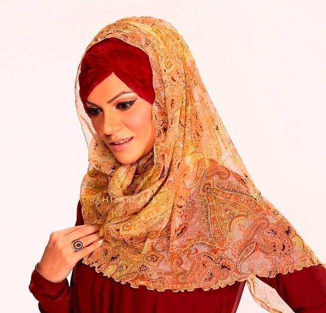 pleated-latest hijab styles