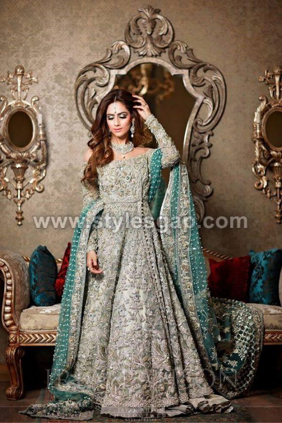 Latest Beautiful Walima Bridal Dresses Collection 2018 19