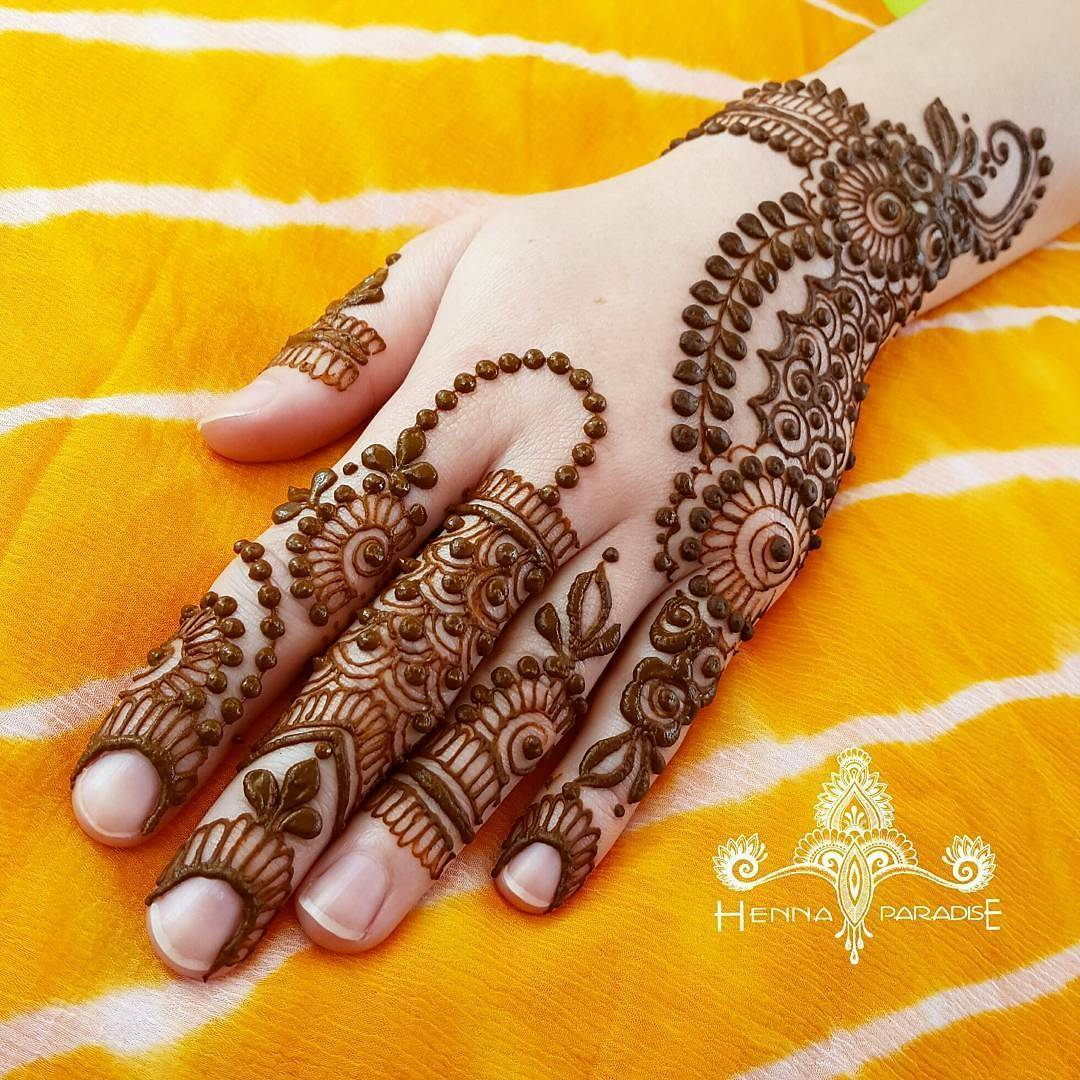 Mehndi design 2017 images - Cool Latest Tikki Style Mehndi Designs For Hands 2017 Beststylocom