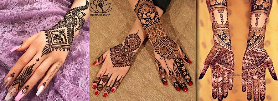 Latest & Best Eid Mehndi Designs Collection 2017-2018