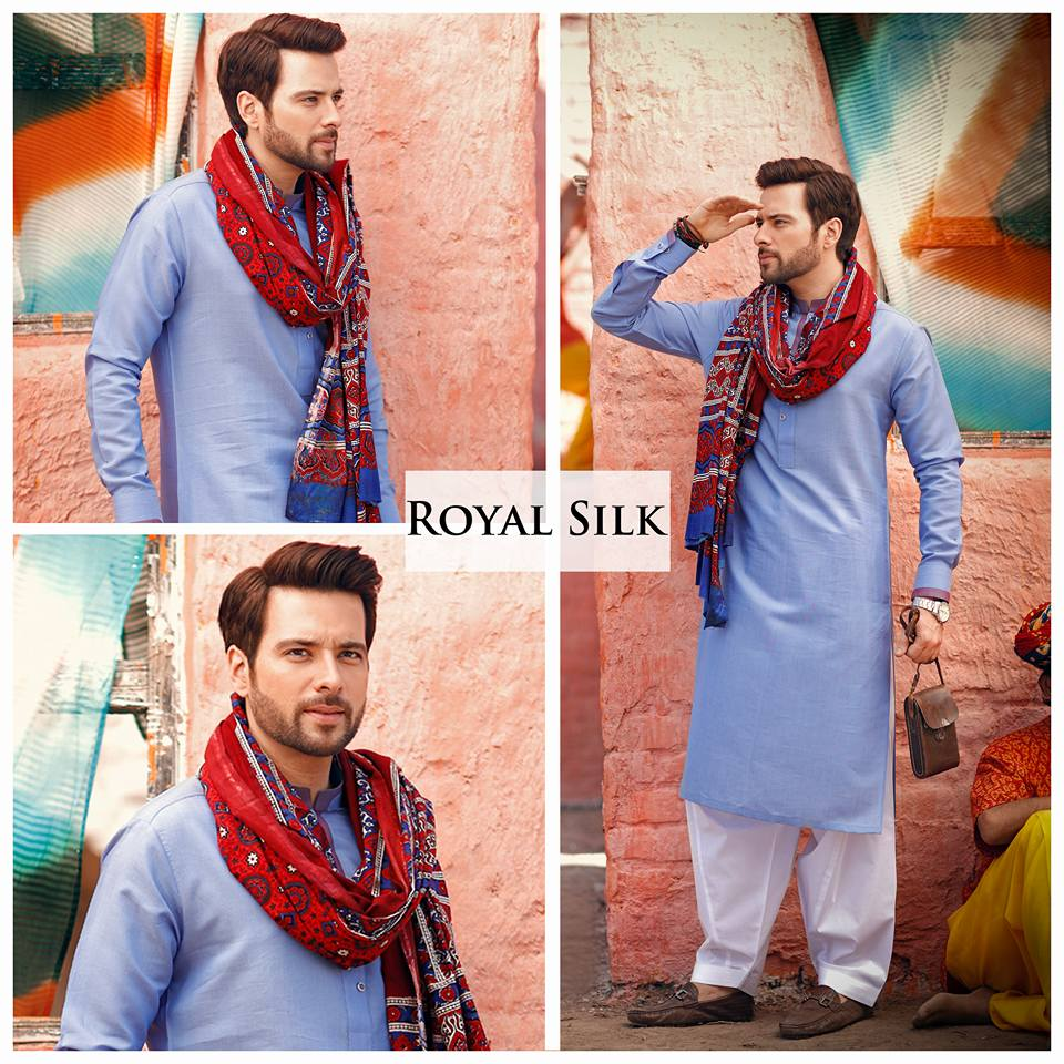 Latest Eid Men Kurta Shalwar Kameez Designs Collection 2017-2018 (1)