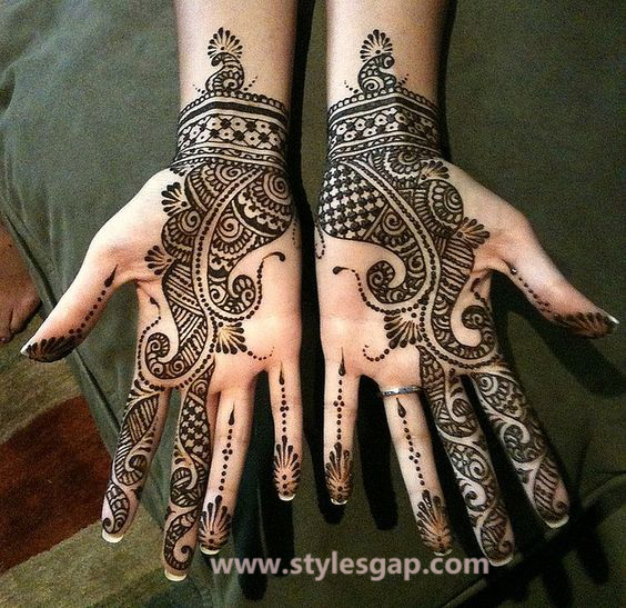 Latest Fancy & Stylish Mehndi Trends & Designs Collection 2016-2017 (12)