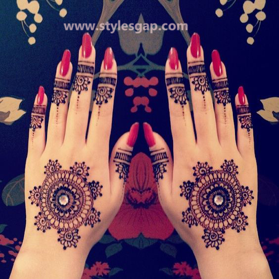 Latest Fancy & Stylish Mehndi Trends & Designs Collection 2016-2017 (16)