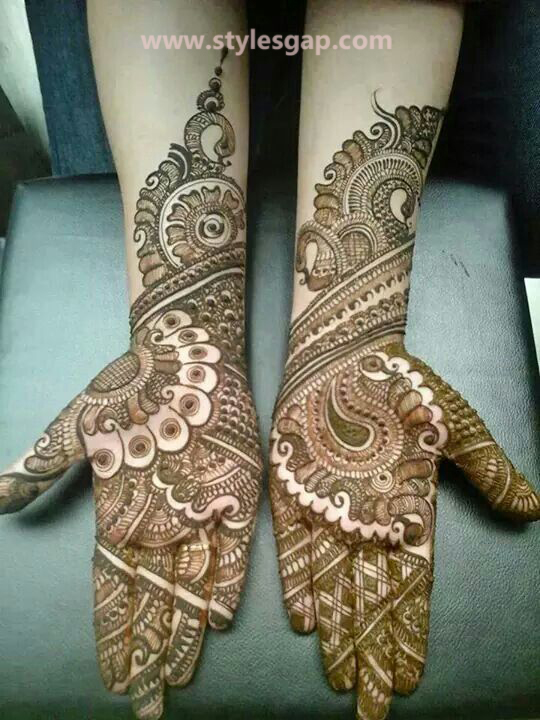 Latest Fancy & Stylish Mehndi Trends & Designs Collection 2016-2017 (17)