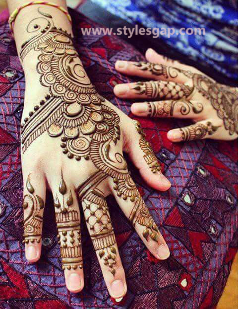 Latest Fancy & Stylish Mehndi Trends & Designs Collection 2016-2017 (18)