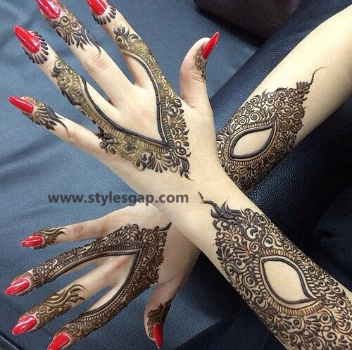 Latest Fancy & Stylish Mehndi Trends & Designs Collection 2016-2017 (19)