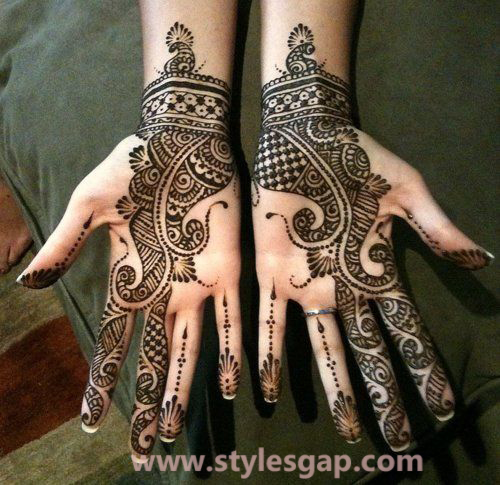 Latest Fancy & Stylish Mehndi Trends & Designs Collection 2016-2017 (2)