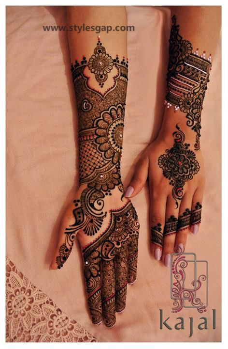 Latest Fancy & Stylish Mehndi Trends & Designs Collection 2016-2017 (20)