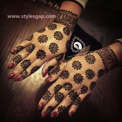 Latest Fancy & Stylish Mehndi Trends & Designs Collection 2016-2017 (21)
