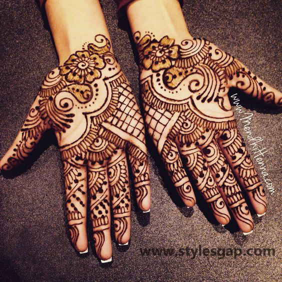 Latest Fancy & Stylish Mehndi Trends & Designs Collection 2016-2017 (22)