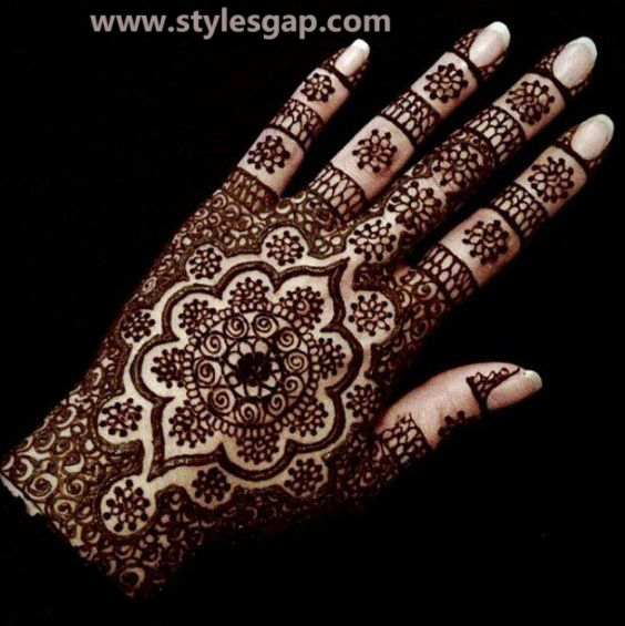 Latest Fancy & Stylish Mehndi Trends & Designs Collection 2016-2017 (24)
