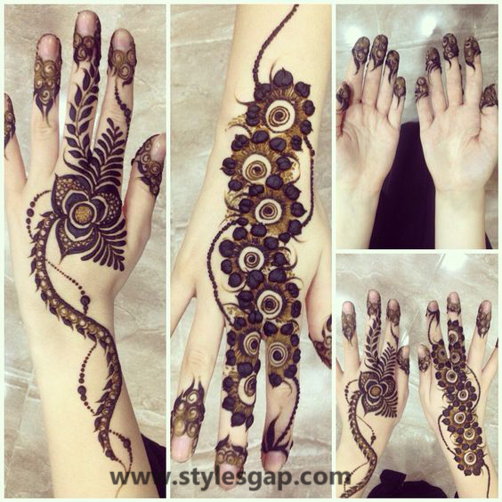 Latest Fancy & Stylish Mehndi Trends & Designs Collection 2016-2017 (25)