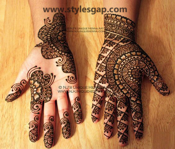 Latest Fancy & Stylish Mehndi Trends & Designs Collection 2016-2017 (26)