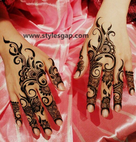 Latest Fancy & Stylish Mehndi Trends & Designs Collection 2016-2017 (27)