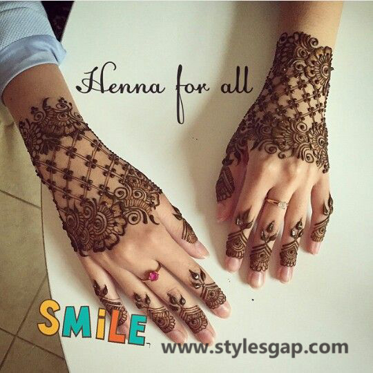 Latest Fancy & Stylish Mehndi Trends & Designs Collection 2016-2017 (28)