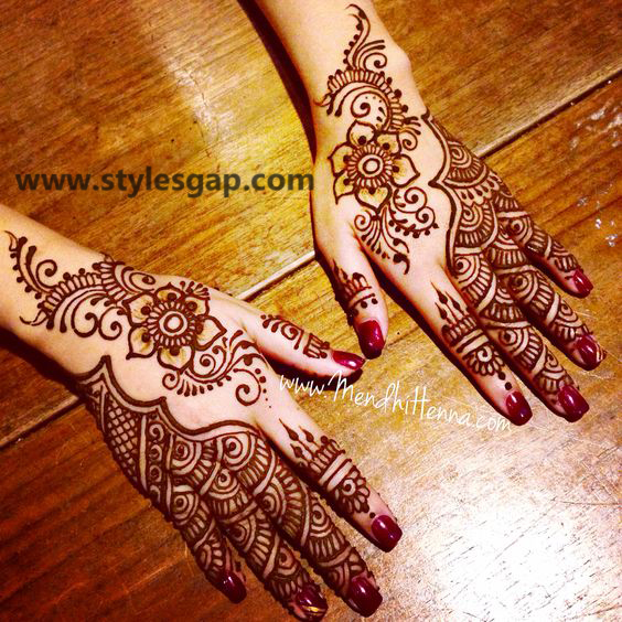 Latest Fancy & Stylish Mehndi Trends & Designs Collection 2016-2017 (34)