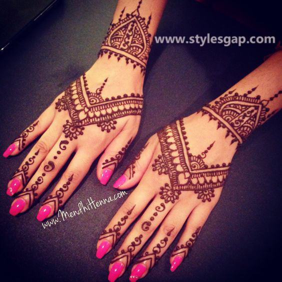 Latest Fancy & Stylish Mehndi Trends & Designs Collection 2016-2017 (36)