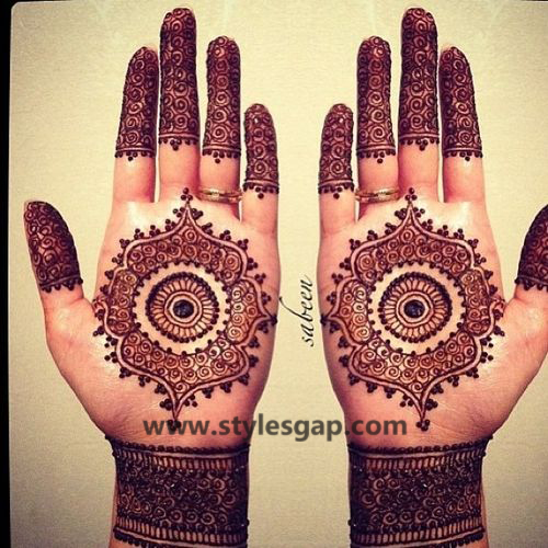 Latest Fancy & Stylish Mehndi Trends & Designs Collection 2016-2017 (38)