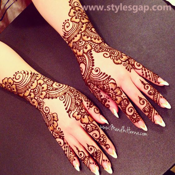 Latest Fancy & Stylish Mehndi Trends & Designs Collection 2016-2017 (4)