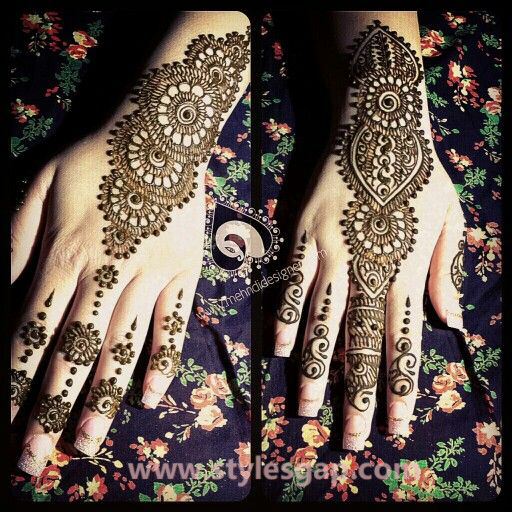 Latest Pakistani Mehndi Designs Trends Collection 2018 2019