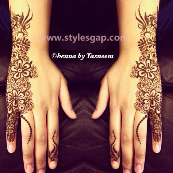 Latest Fancy & Stylish Mehndi Trends & Designs Collection 2016-2017 (6)