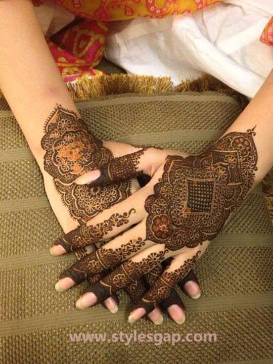 Latest Fancy & Stylish Mehndi Trends & Designs Collection 2016-2017 (7)