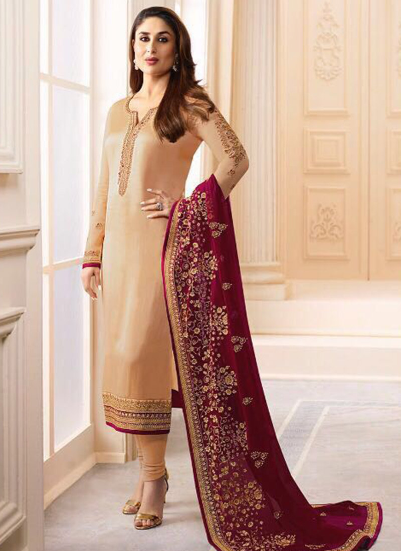 c96f6d4505 Red colour suit with black Contrast. Asian and Indian Salwar Kameez Designs  for Women ...
