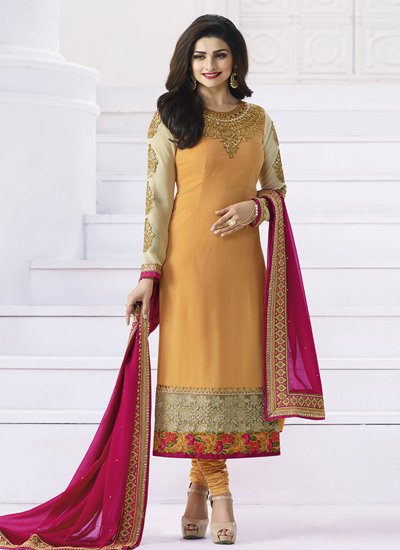 Latest Pakistani Indian Straight Cut Salwar Kameez 2018 19