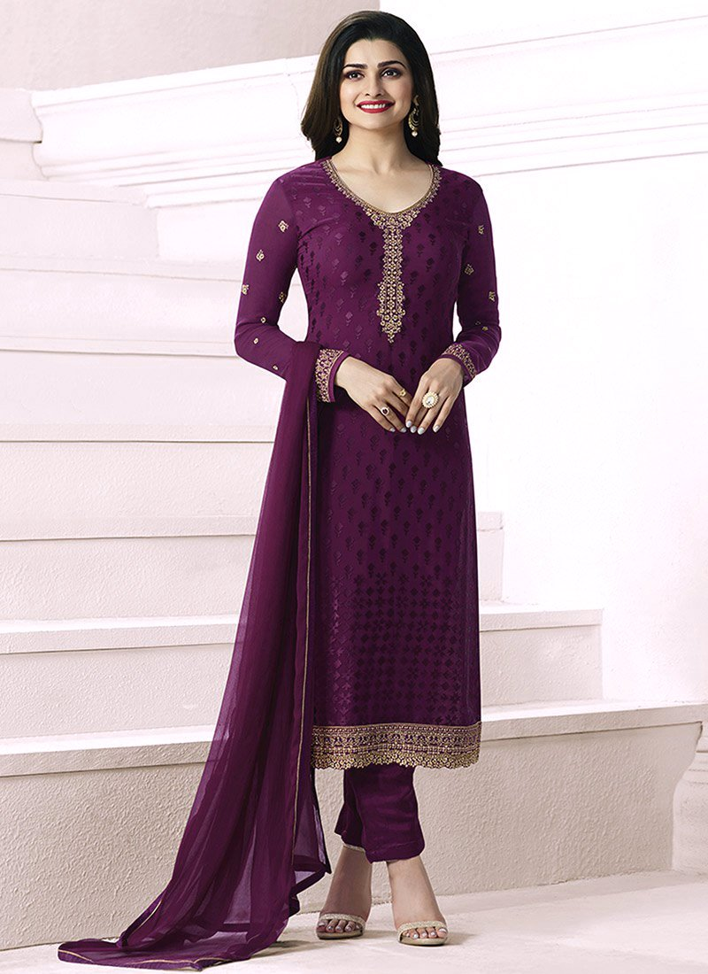 9ba550ba79 The formal straight cut salwar kameez have embroidered necklines with  adorned patches at the bottom. Shirts are paired with churidar pajama and  straight ...