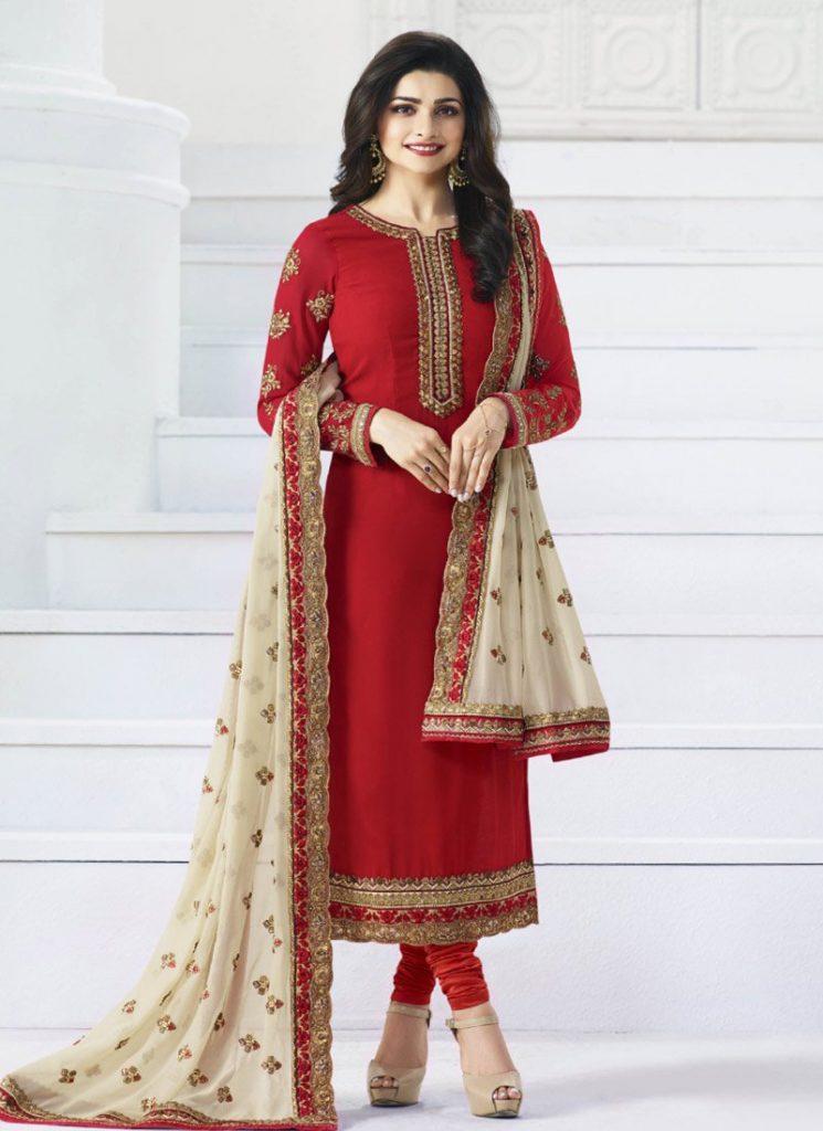 9d83568384 Latest Pakistani Indian Straight Cut Salwar Kameez 2018-19 Designs ...