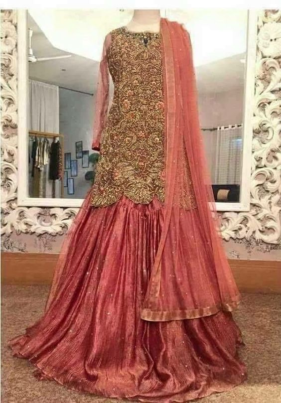 Latest Wedding Bridal Sharara Designs (11)