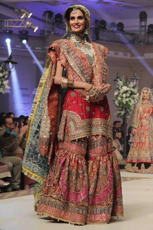 Latest Wedding Bridal Sharara Designs 16