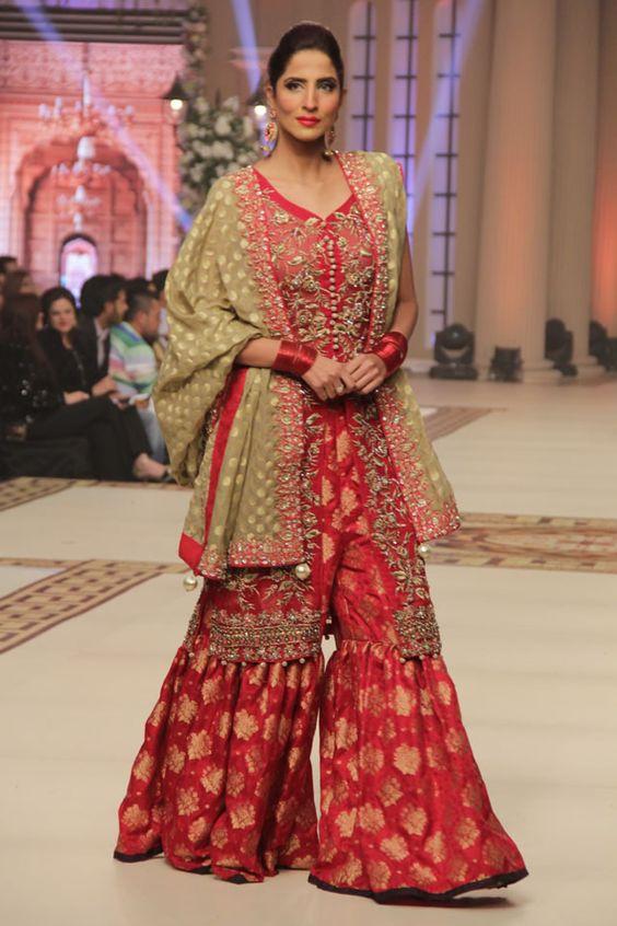 Bridal Sharara Designs Pakistani