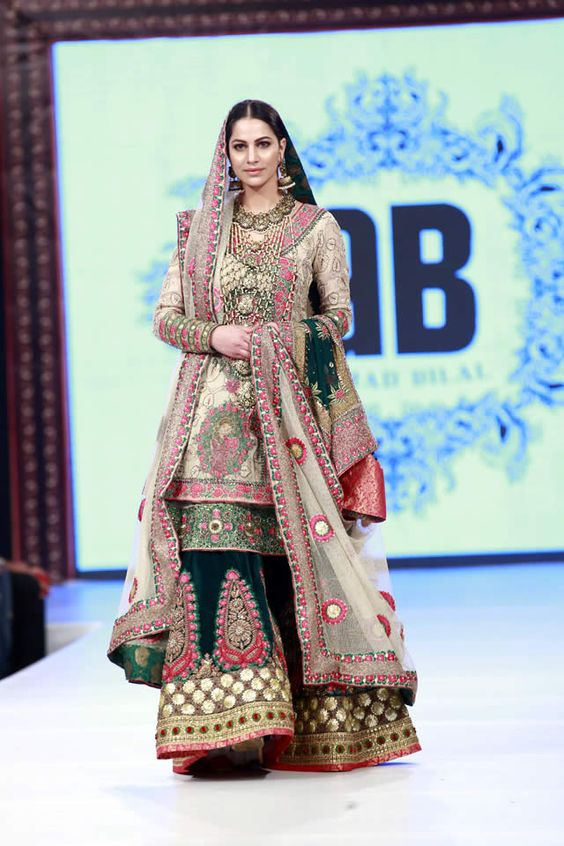 Latest Wedding Bridal Sharara Designs 6