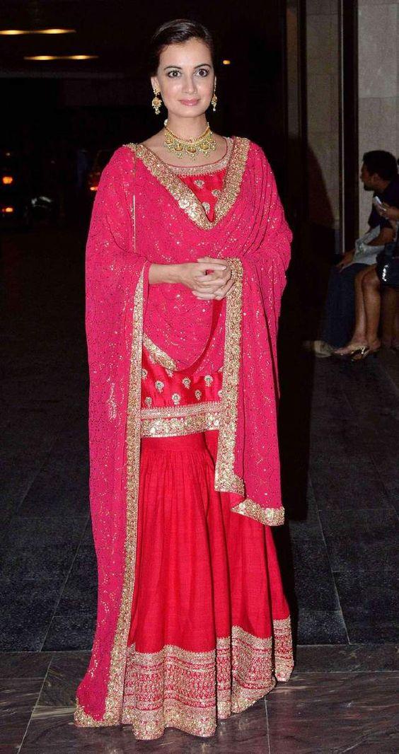 834131319b Latest Wedding Bridal Sharara Designs & Trends 2019-2020 Collection