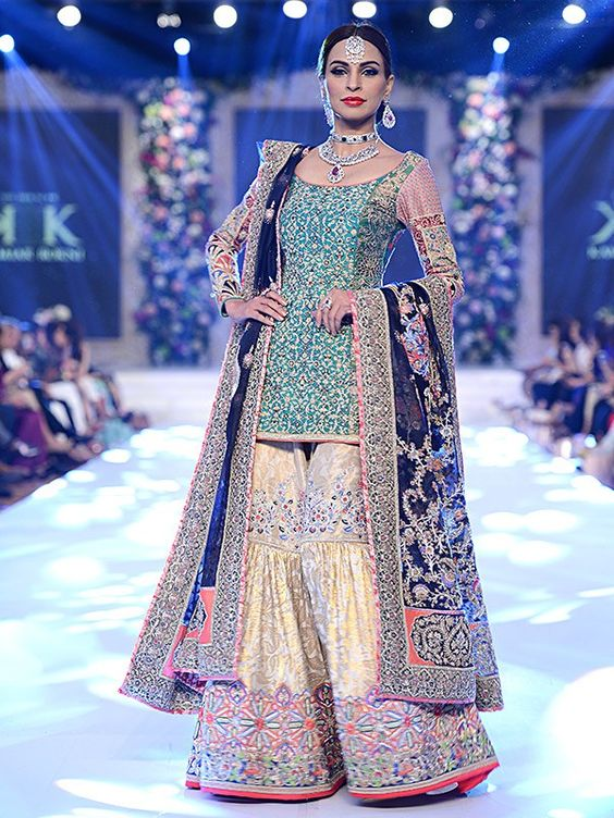 834131319b Latest Wedding Bridal Sharara Designs & Trends 2019-2020 Collection