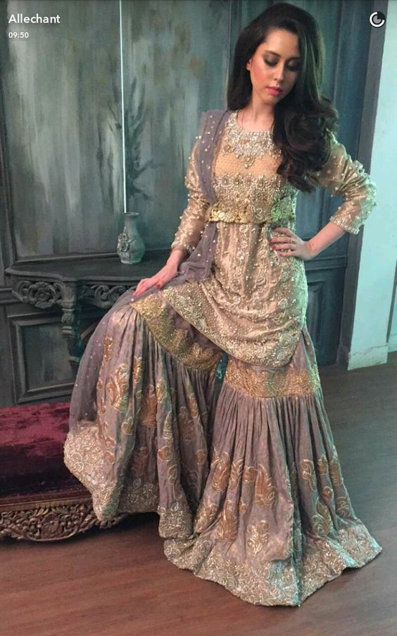 13dee095889 Latest Wedding Bridal Sharara Designs   Trends 2019-2020 Collection