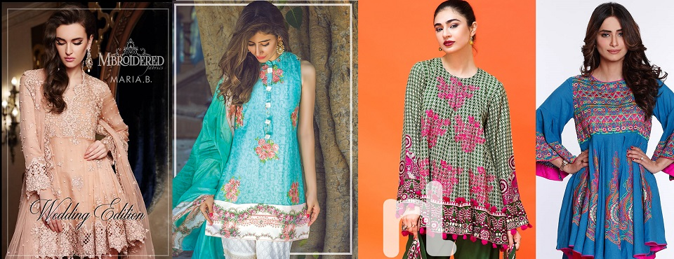 Latest Pakistani Fashion 2018 19 Medium Shirts With Cigarette Pants