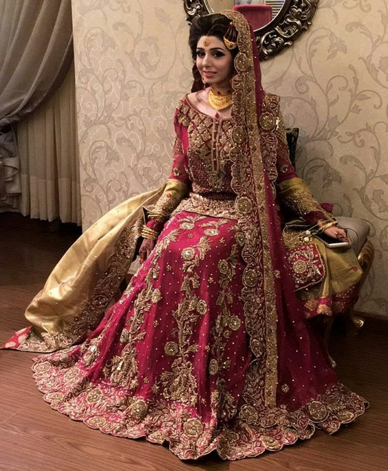 8872b525f8 Look at the beautiful assortment. It contains different styles and  contrasts. Shocking pink with orange is always a must go. The beautiful red  lehenga with ...