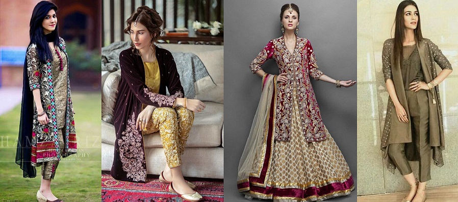 Front Open Double Shirt Dresses Designs Collection 2018-2019 Trends