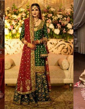 Party Wear Wedding Bridal Lehenga Designs 2017-2018 Collection