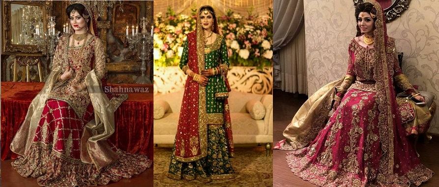 Party Wear Wedding Bridal Lehenga Designs 2017-2018 Collection